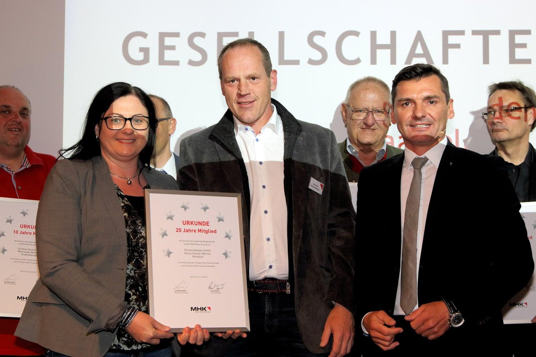 20 Jahre MHK Mitglied - Eilmannsberger GmbH